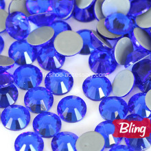 Verre brillant Hot Fix strass Capri Blue
